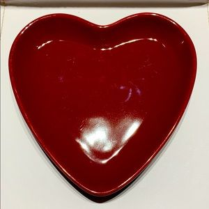 Chantal 91-HFP14/4 bake/serve Valentine heart dish